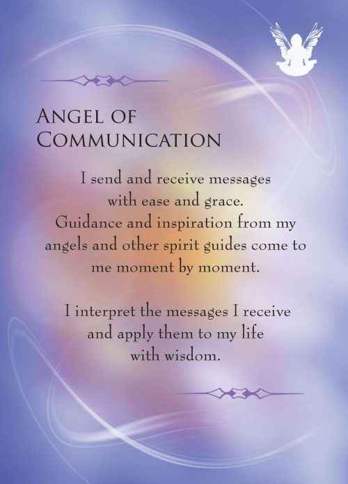 Angels and Gemstone Guardians Cards Angel of Communication
