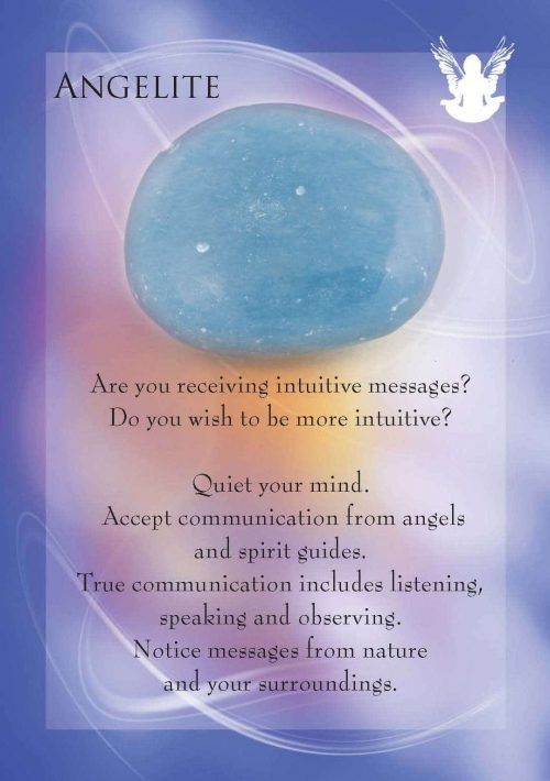Angels and Gemstone Guardians Cards Angelite