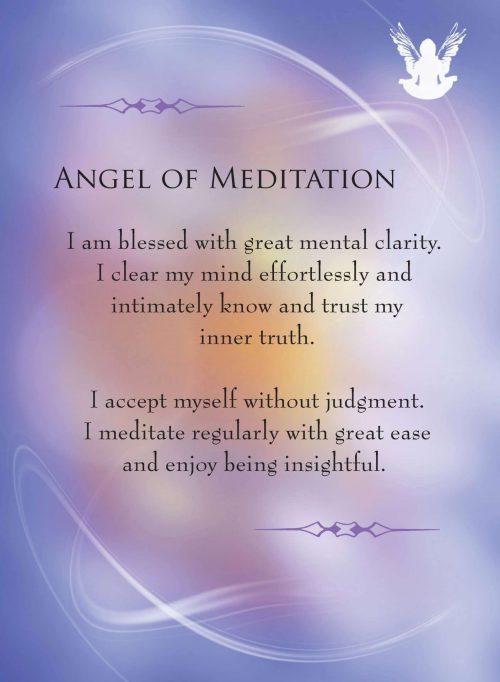 Angels and Gemstone Guardians Cards Apophyllite Affirmation Angel of Meditation