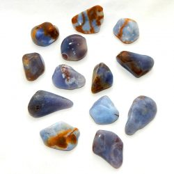 Blue Chalcedony Tumbled Stone