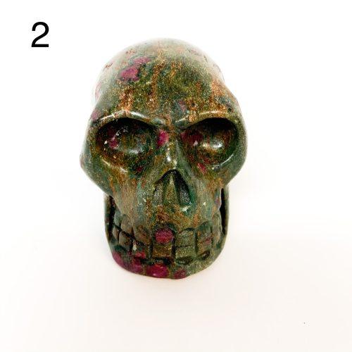 Ruby in Fuchsite Skull Number 2
