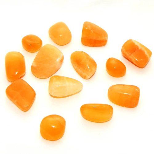 Orange Calcite Tumbled Stone