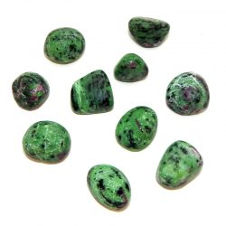 Ruby in zoisite tumbled stone