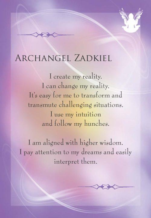 Amethyst-Zadikiel Archangels-Cards