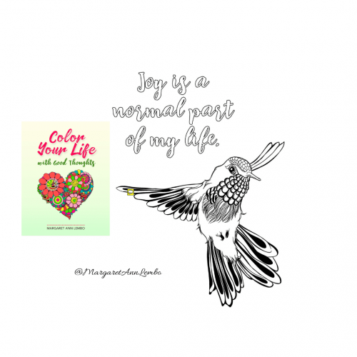 Color Your Life with Good Thoughts Coloring Book