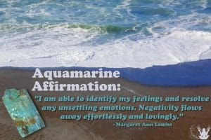 Aquamarine Gemstone Affirmation Meme