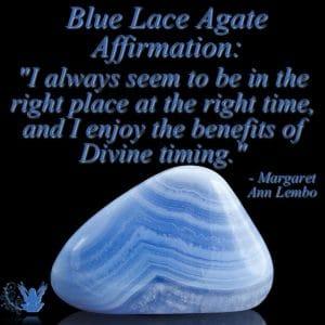 Blue Lace Agate Gemstone Affirmation Meme Margaret Ann Lembo
