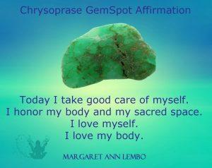 Chrysoprase gemstone Affirmation