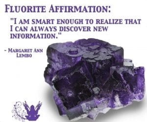 Purple Flourite gemspot affirmation meme Margaret Ann Lembo