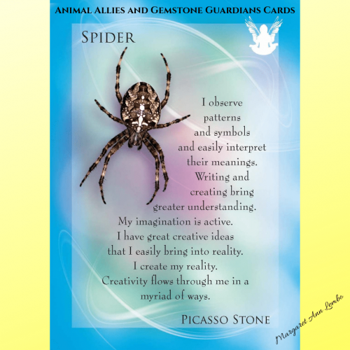 Animal Totems and Gemstone Guardians Cards - spider