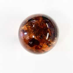 Amber Sphere Single