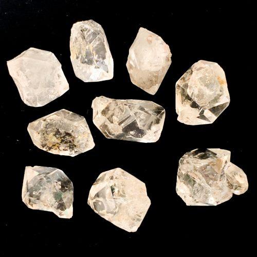 Herkimer Diamond on Black Background