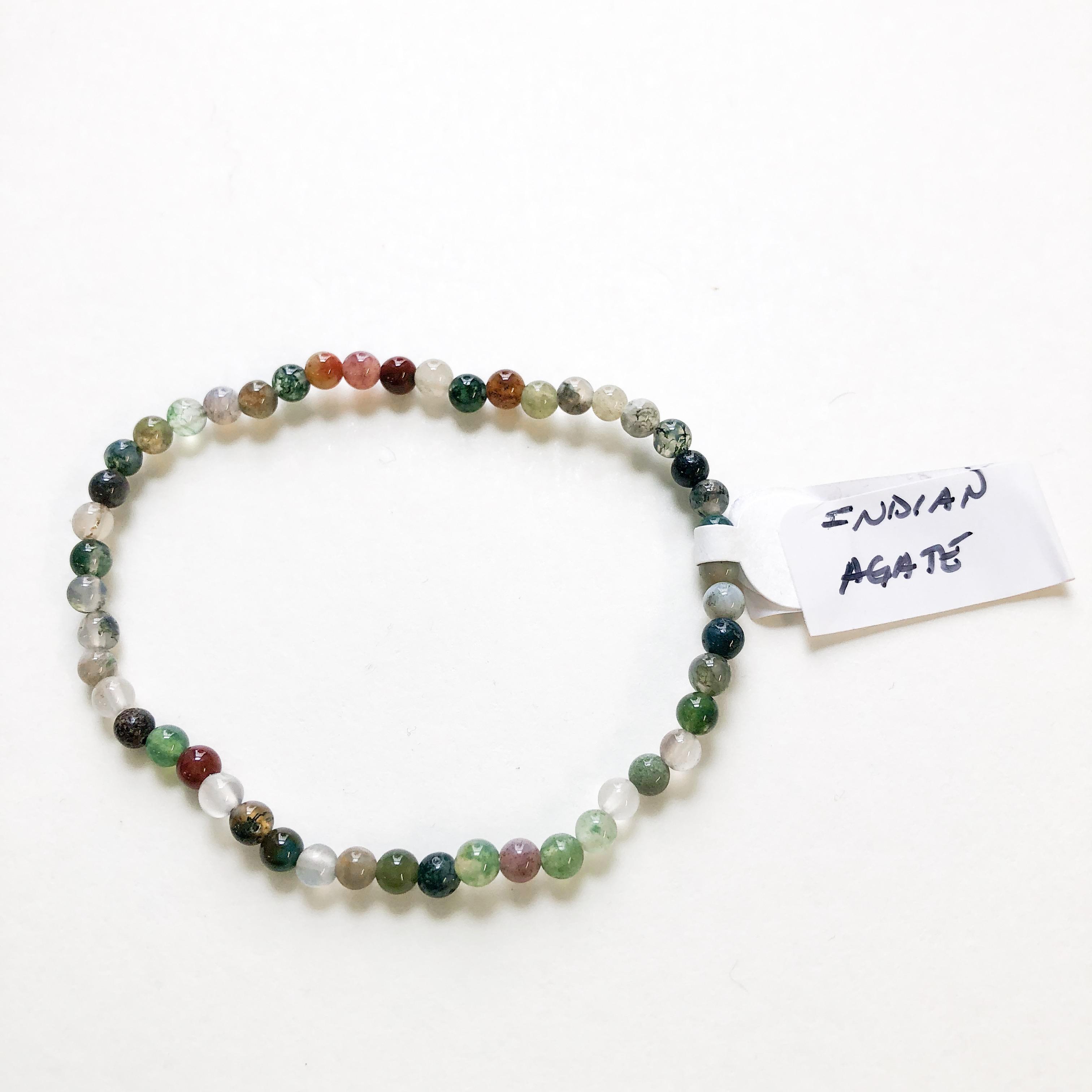 53752661fcb61 Indian Agate Bracelet 4 mm