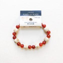 Carnelian Bracelet with wood beads