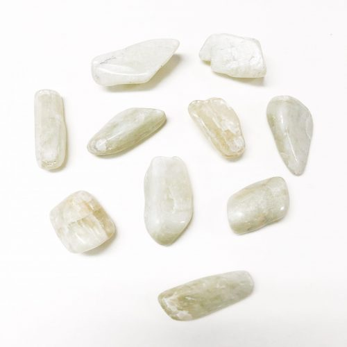 Hiddenite Tumbled stone