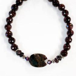 Garnet Bracelet with Aromatherapy Bead