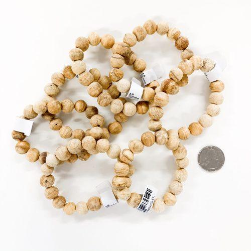 Palo Santo Bracelet with Quarter for reference