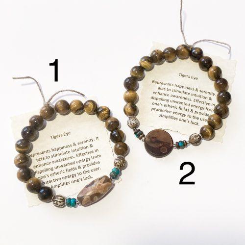 Mens Gold Tiger's Eye Bracelets 1 and 2