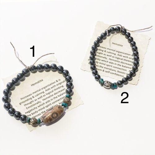 Men's Hematite Bracelets 1 and 2