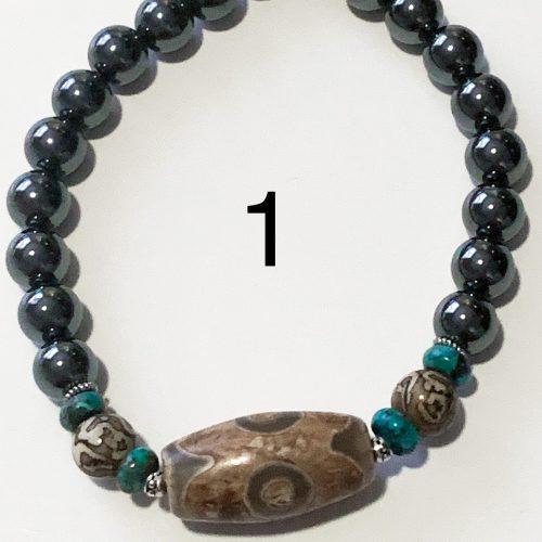 Men's Hematite Bracelet Number 1