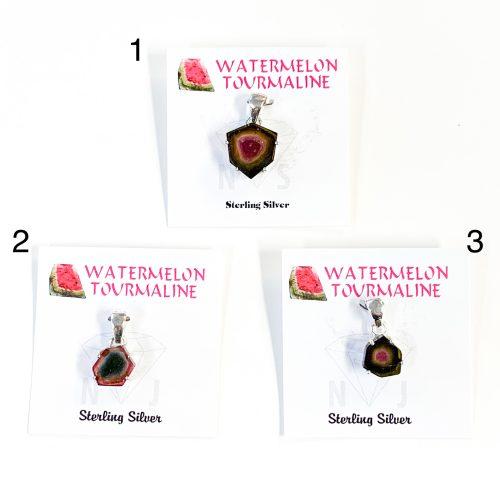 Watermelon Tourmaline Pendants