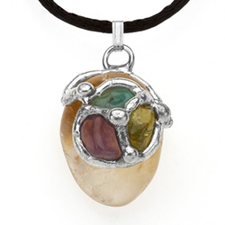 Prosperity Gemstone Pendant