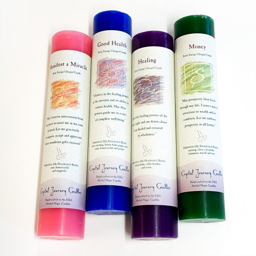 Crystal Journey Tall Pillar Candles