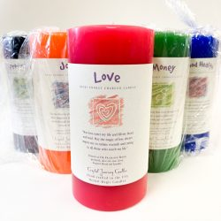 Crystal Journey Large Pillar Candles
