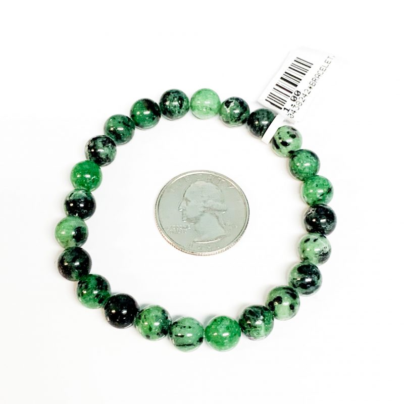 Ruby in Zoisite Bracelet 8mm with Quarter