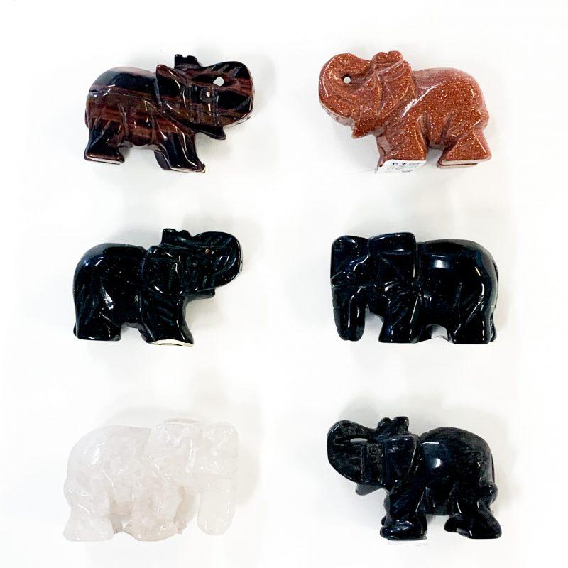 Gemstone Elephants