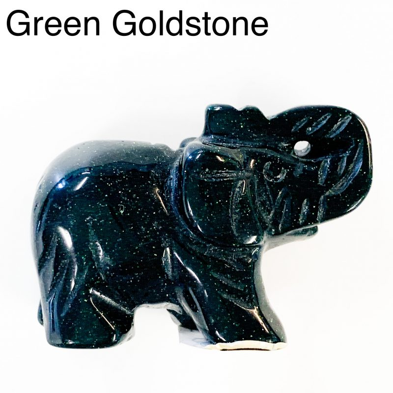 Green Goldstone Elephant Trunk Up