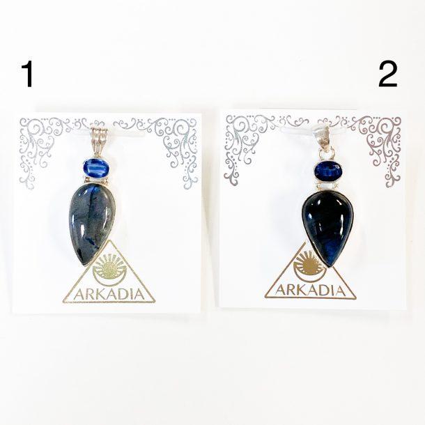 Labradorite and Kyanite Pendants