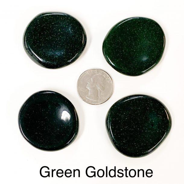 Green Goldstone Worry Stone