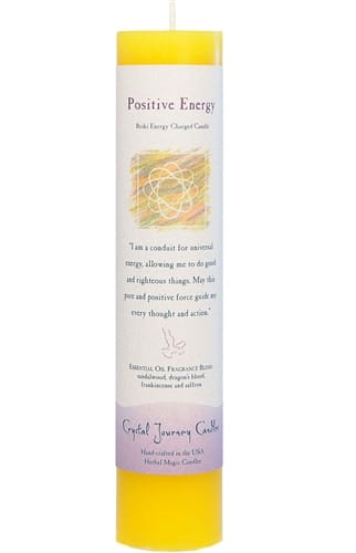 Positive Energy Tall Pillar Candle P019