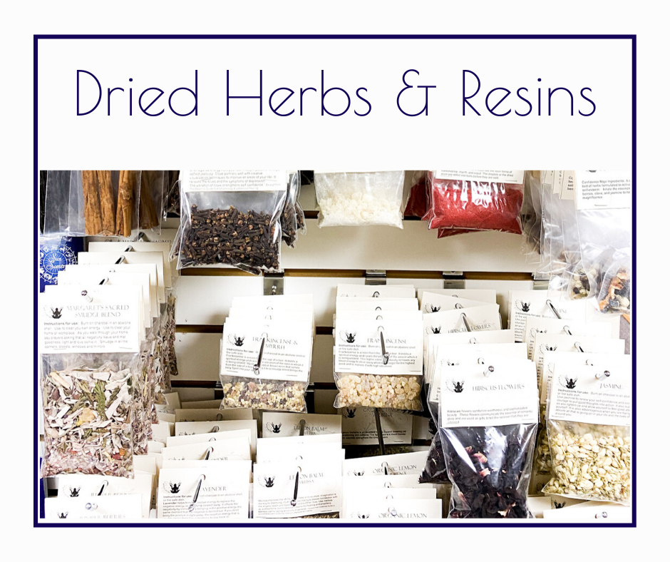 Dried Herbs and Resins
