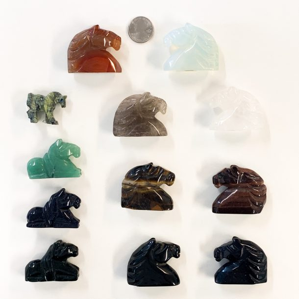 Gemstone Horse with Quarter for Scale