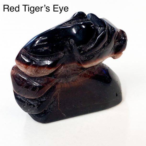 Gemstone Horse Head Red Tiger's Eye