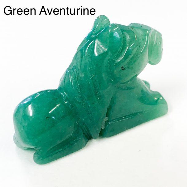 Gemstone Horse Green Aventurine