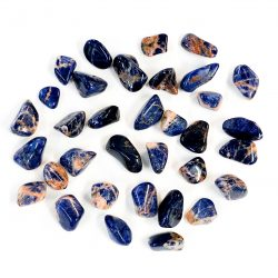 Sunset Sodalite Tumbled Pieces