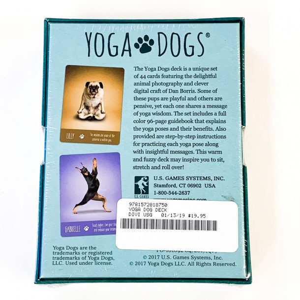 Yoga Dogs Book and Deck Back