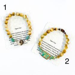 Gold Tiger's Eye Bracelet 1 and 2