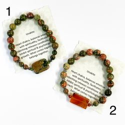 Unakite Bracelets Number 1 and 2