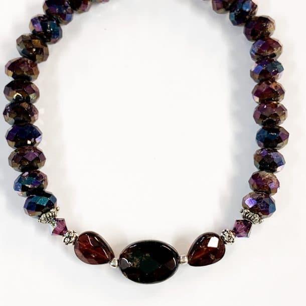 Garnet Bracelet Faceted