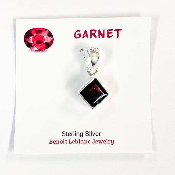 Faceted Garnet Pendant