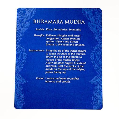 Mudras for Awakening the Energy Body Card 3 (back)