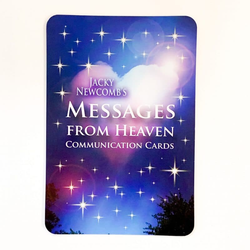 Messages from Heaven Communication Cards back