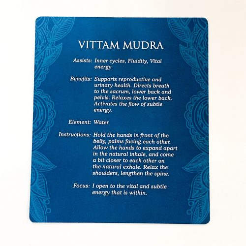 Mudras for Awakening the five Elements Card 3 back