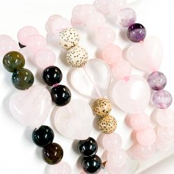 Bracelets 8mm Rose Quartz with Various Accents