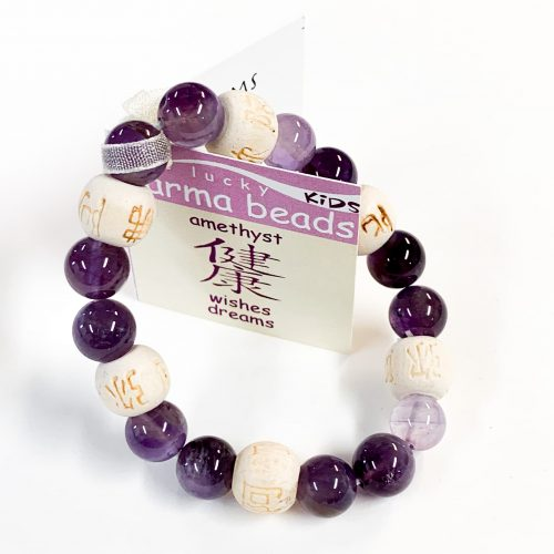 Bracelet 8mm Lucky Karma Beads - Kids Amethyst