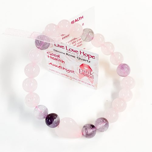 Bracelet 8mm - Rose Quartz with Amethyst
